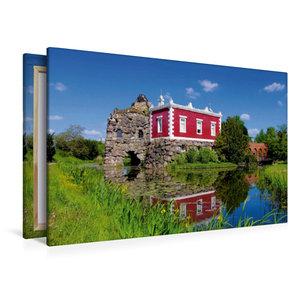 Premium Textil-Leinwand 120 cm x 80 cm quer Villa Hamilton