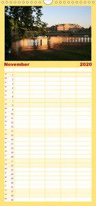 Vom Rhein an die Ostsee - Familienplaner hoch (Wandkalender 2020