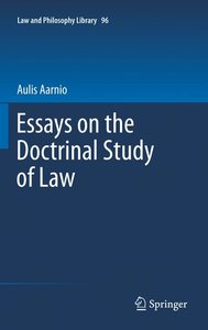 Essays on the Doctrinal Study of Law