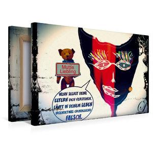 Premium Textil-Leinwand 45 cm x 30 cm quer Muttis Liebling