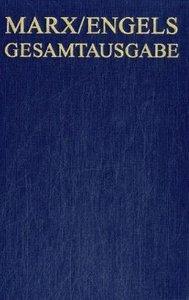 Marx/Engels Gesamtausgabe (MEGA), BAND 32, Die Bibliotheken von