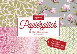 Papierglück - Motivpapier-Blöcke (rot)
