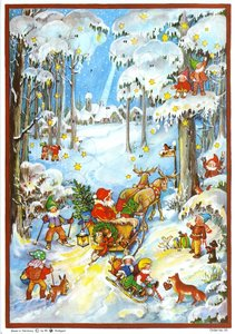 """Adventskalender \""""Zwerge im Schnee\"""""""
