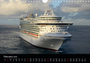 Cruise ships around the world (Wall Calendar 2020 DIN A4 Landsca