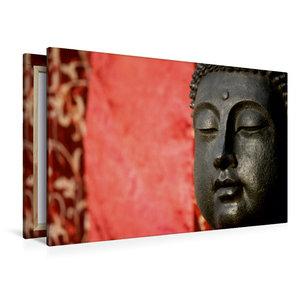 Premium Textil-Leinwand 120 cm x 80 cm quer BUDDHA - Ruhe