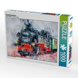 Dampflokomotive 1000 Teile Puzzle quer