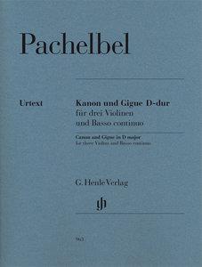 Kanon und Gigue D-dur für 3 Violinen und Basso continuo
