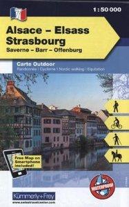 KuF Elsass / Vogesen Outdoorkarte 07 Elsass - Strasbourg 1 : 50