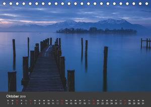 Chiemsee in magischem Licht (Tischkalender 2019 DIN A5 quer)