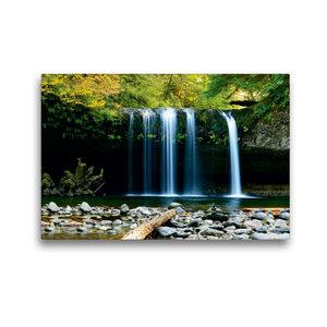 Premium Textil-Leinwand 45 cm x 30 cm quer Wasserfall im Dschung