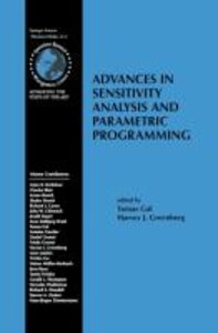 Advances in Sensitivity Analysis and Parametric Programming