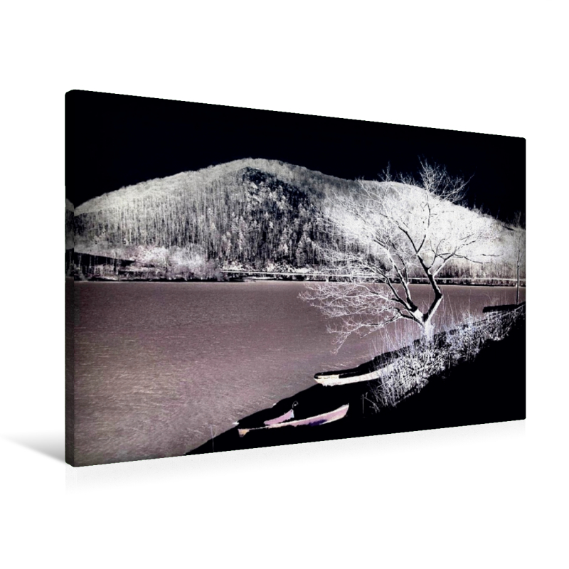 Premium Textil-Leinwand 90 cm x 60 cm quer Winterzone - zum Schließen ins Bild klicken