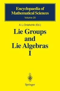 Lie Groups and Lie Algebras I