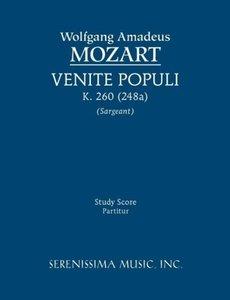 Venite Populi, K. 260 (248a) - Study Score