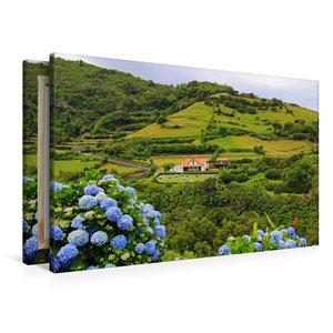 Premium Textil-Leinwand 90 cm x 60 cm quer Wohnhaus in Fazenda d