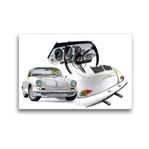 Premium Textil-Leinwand 45 cm x 30 cm quer Porsche 356 Carrera