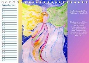 Engelhafter Geburtstagskalender (Tischkalender 2019 DIN A5 quer)