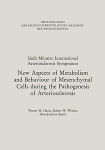 New Aspects of Metabolism and Behaviour of Mesenchymal Cells dur