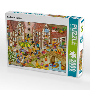 Mein Dorf im Frühling 2000 Teile Puzzle quer