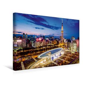 Premium Textil-Leinwand 45 cm x 30 cm quer Nagoya Oasis 21