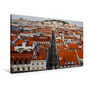 Premium Textil-Leinwand 90 cm x 60 cm quer Stadtblick vom Elevad