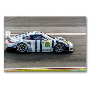 Premium Textil-Leinwand 90 cm x 60 cm quer PORSCHE 911 RSR LM GT