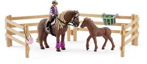 Schleich 42363 Reiterin mit Island Ponys
