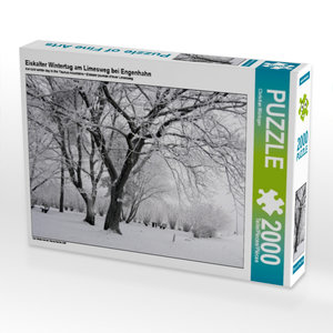 Eiskalter Wintertag am Limesweg bei Engenhahn 2000 Teile Puzzle