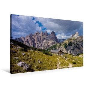 Premium Textil-Leinwand 75 cm x 50 cm quer Lange Alm