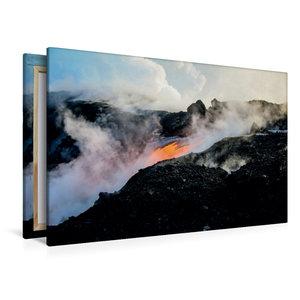 Premium Textil-Leinwand 120 cm x 80 cm quer Lava erreicht den Pa