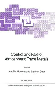 Control and Fate of Atmospheric Trace Metals