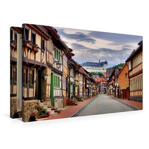 Premium Textil-Leinwand 90 cm x 60 cm quer Stolberg
