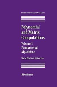 Polynomial and Matrix Computations