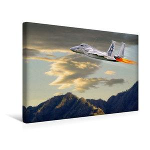 Premium Textil-Leinwand 45 cm x 30 cm quer Modellflugzeug in Akt