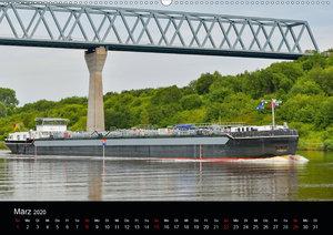 Schiffspassagen Nord-Ostsee-Kanal (Wandkalender 2020 DIN A2 quer