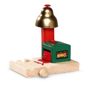 Brio 33754 - Magnetisches Glockensignal für Eisenbahn, Zug