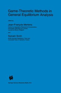 Game-Theoretic Methods in General Equilibrium Analysis
