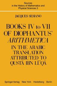 Books IV to VII of Diophantus' Arithmetica