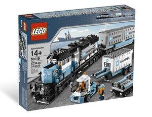 LEGO Creator 10219 - Güterzug: Maersk Zug, Antrieb nachrüstbar
