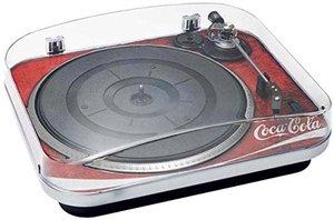 Plattenspieler TD120 mit lizensiertem Coca-Cola Dekor