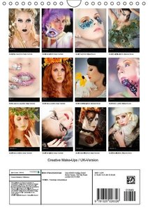 Creative Make-Ups / UK-Version (Wall Calendar 2015 DIN A4 Portra