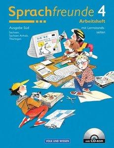 Sprachfreunde 4. Arbeitsheft mit CD-ROM. Östliche Bundesländer (