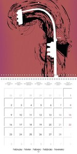 Urban illustration (Wall Calendar 2015 300 × 300 mm Square)