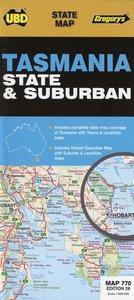 Tasmania State & Suburban 1 : 625 000