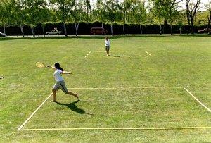Speedminton - Easy Court Pro, Spielfeld Bänder und Heringe
