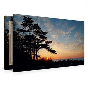 Premium Textil-Leinwand 75 cm x 50 cm quer Sonnenuntergang im Fr