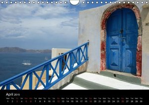 Santorini - Island in the Agean Sea (Wall Calendar 2015 DIN A4 L