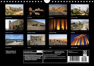 Monuments of Lebanon 2015 (Wall Calendar 2015 DIN A4 Landscape)