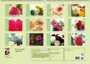 Rose petals calendar Great Britain (Wall Calendar 2015 DIN A2 La
