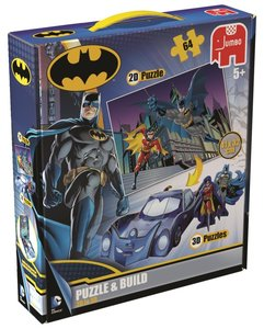Batman 2D/3D Puzzle & Build 64 Teile